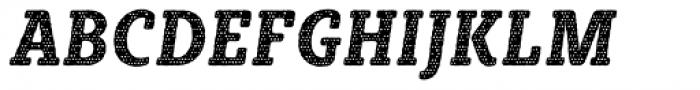 Sybilla Plaid Pro Condensed Bold Italic Font UPPERCASE