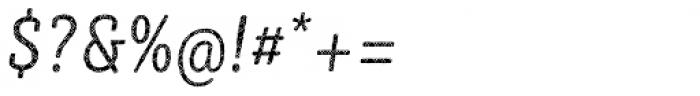 Sybilla Plaid Pro Condensed Light Italic Font OTHER CHARS