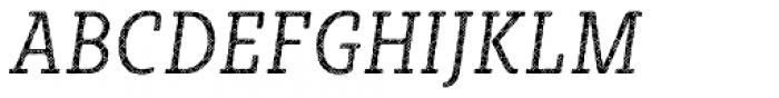 Sybilla Plaid Pro Condensed Light Italic Font UPPERCASE