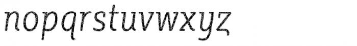 Sybilla Plaid Pro Condensed Thin Italic Font LOWERCASE