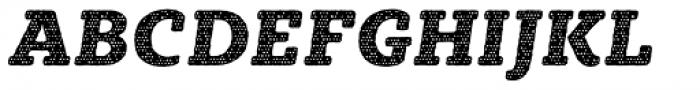 Sybilla Plaid Pro Heavy Italic Font UPPERCASE