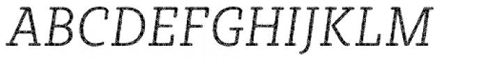 Sybilla Plaid Pro Narrow Thin Italic Font UPPERCASE