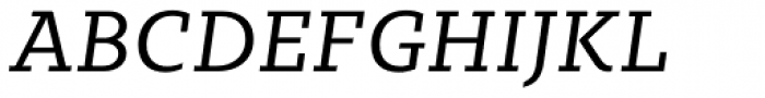 Sybilla Pro Book Italic Font UPPERCASE