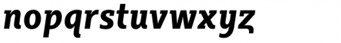 Sybilla Pro Condensed Bold Italic Font LOWERCASE