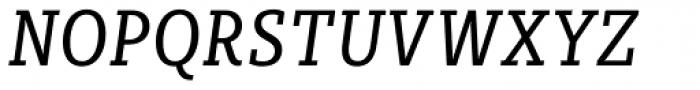 Sybilla Pro Condensed Book Italic Font UPPERCASE