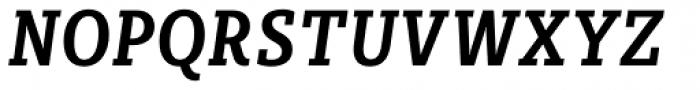 Sybilla Pro Condensed Medium Italic Font UPPERCASE