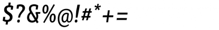 Sybilla Pro Condensed Regular Italic Font OTHER CHARS