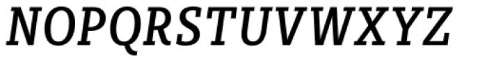 Sybilla Pro Condensed Regular Italic Font UPPERCASE