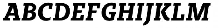 Sybilla Pro Narrow Bold Italic Font UPPERCASE