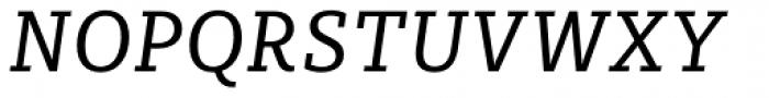 Sybilla Pro Narrow Book Italic Font UPPERCASE