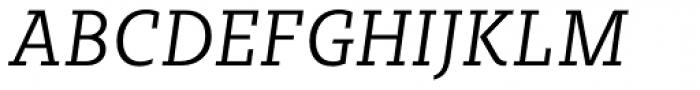 Sybilla Pro Narrow Light Italic Font UPPERCASE