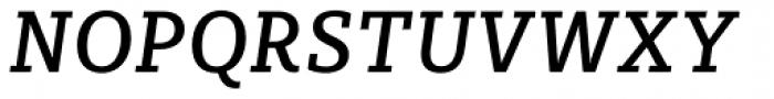 Sybilla Pro Narrow Regular Italic Font UPPERCASE