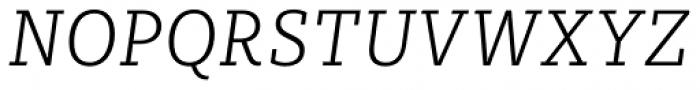Sybilla Pro Narrow Thin Italic Font UPPERCASE