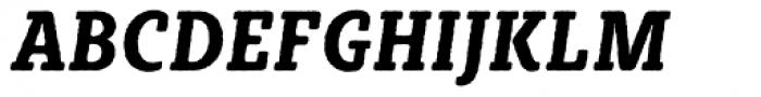 Sybilla Rough Pro Condensed Bold Italic Font UPPERCASE