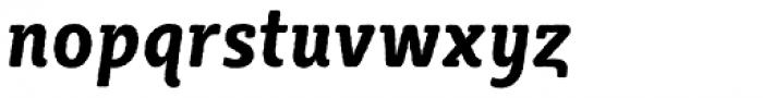 Sybilla Rough Pro Condensed Bold Italic Font LOWERCASE