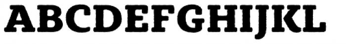 Sybilla Rough Pro Heavy Font UPPERCASE