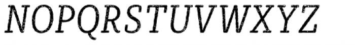 Sybilla Rust Pro Condensed Light Italic Font UPPERCASE