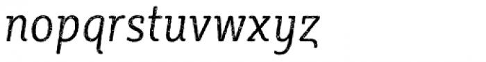 Sybilla Rust Pro Condensed Light Italic Font LOWERCASE