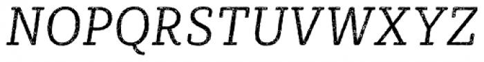 Sybilla Rust Pro Narrow Light Italic Font UPPERCASE