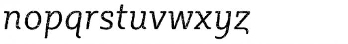 Sybilla Rust Pro Narrow Light Italic Font LOWERCASE