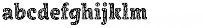 Sybilla Stroke Pro Condensed Heavy Font LOWERCASE