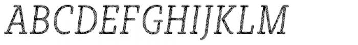 Sybilla Stroke Pro Condensed Thin Italic Font UPPERCASE