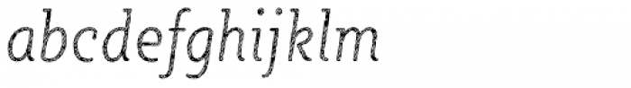 Sybilla Stroke Pro Condensed Thin Italic Font LOWERCASE
