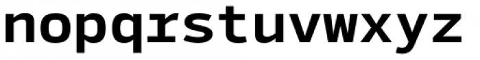 Syke Mono Bold Font LOWERCASE