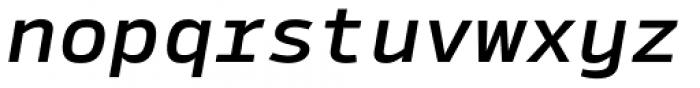 Syke Mono Medium Italic Font LOWERCASE