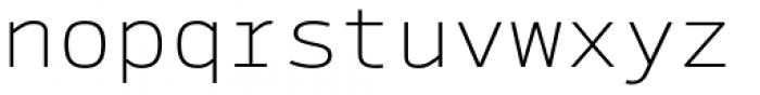 Syke Mono Thin Font LOWERCASE