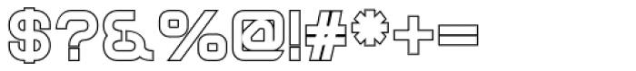 Sylar Outline Font OTHER CHARS