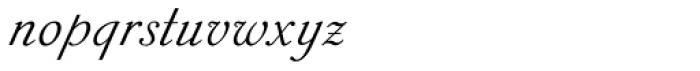 Sylphe Pro Italic Font LOWERCASE