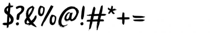 Symbah Regular Font OTHER CHARS