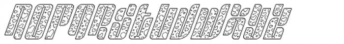 Sympathetic 09 Heart Line Italic Font UPPERCASE