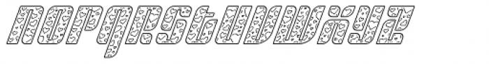 Sympathetic 09 Heart Line Italic Font LOWERCASE