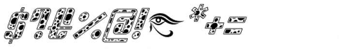 Sympathetic 10 Circle Italic Font OTHER CHARS