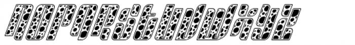 Sympathetic 10 Circle Italic Font UPPERCASE