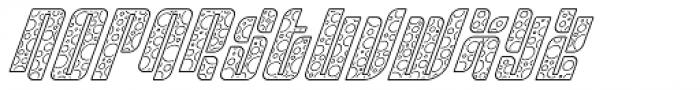 Sympathetic 11 Circle Line Italic Font UPPERCASE