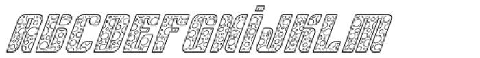 Sympathetic 11 Circle Line Italic Font LOWERCASE