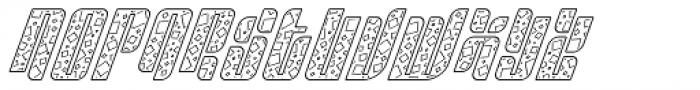 Sympathetic 13 Square Line Italic Font UPPERCASE