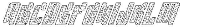 Sympathetic 15 Triangle Line Italic Font UPPERCASE