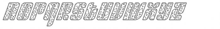 Sympathetic 15 Triangle Line Italic Font LOWERCASE