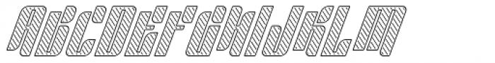 Sympathetic 20 Slant Left Line Italic Font UPPERCASE
