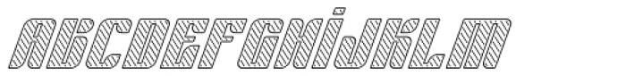 Sympathetic 20 Slant Left Line Italic Font LOWERCASE