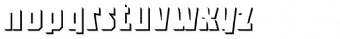 Sync Shadow 3 D Body Solo Font LOWERCASE