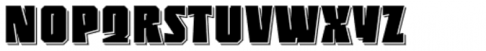 Sync Shadow 3 D Line Font UPPERCASE