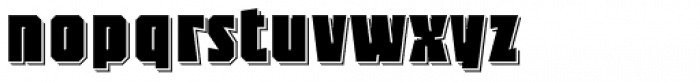 Sync Shadow 3 D Line Font LOWERCASE