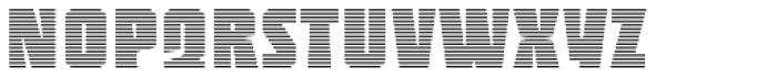 Sync Stripes Fine Font UPPERCASE