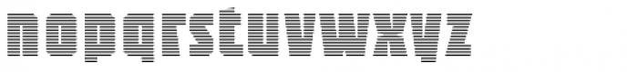 Sync Stripes Fine Font LOWERCASE