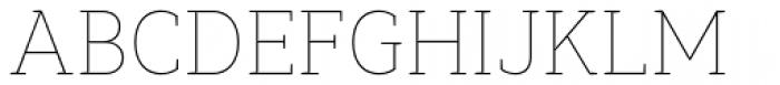 Synerga Pro Thin Font UPPERCASE